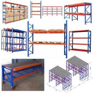 Steel storage shelf rack with warehouse plastic storage bins